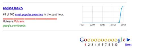 Google Hot Trends Regina Lasko